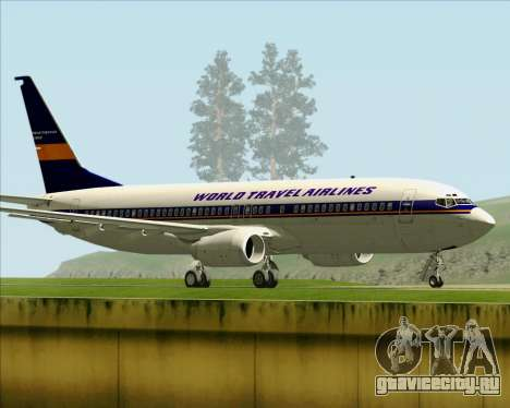 Boeing 737-800 World Travel Airlines (WTA) для GTA San Andreas вид справа