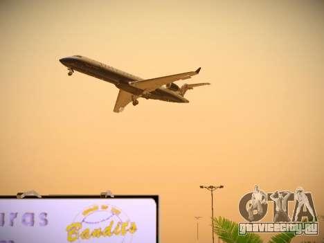 Bombardier CRJ-700 United Express для GTA San Andreas вид сверху