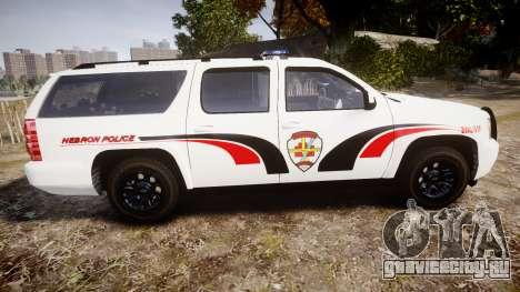 Chevrolet Suburban 2008 Police [ELS] Red & Blue для GTA 4 вид слева