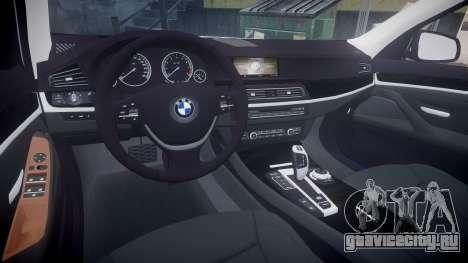 BMW 530d F11 Metropolitan Police [ELS] для GTA 4 вид изнутри