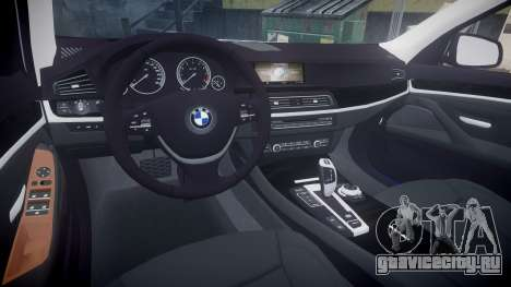 BMW 530d F11 Metropolitan Police [ELS] SEG для GTA 4 вид сзади