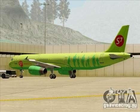 Airbus A321-200 S7 - Siberia Airlines для GTA San Andreas двигатель