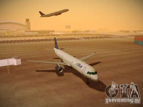Airbus A321-232 Lets talk about Blue для GTA San Andreas вид снизу