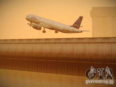 Airbus A321-232 jetBlue Red White and Blue для GTA San Andreas вид сверху