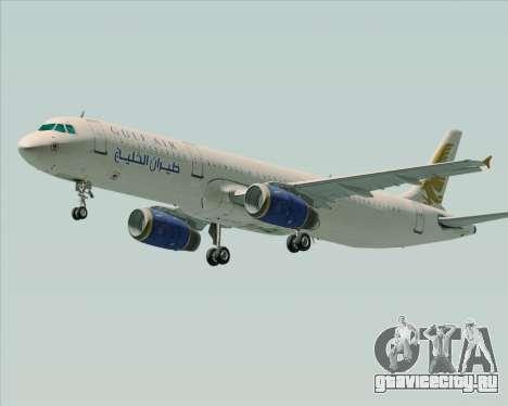 Airbus A321-200 Gulf Air для GTA San Andreas вид слева