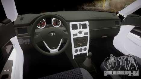 ВАЗ-2170 Приора Police для GTA 4 вид сзади