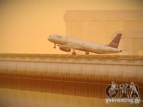 Airbus A321-232 Lets talk about Blue для GTA San Andreas колёса