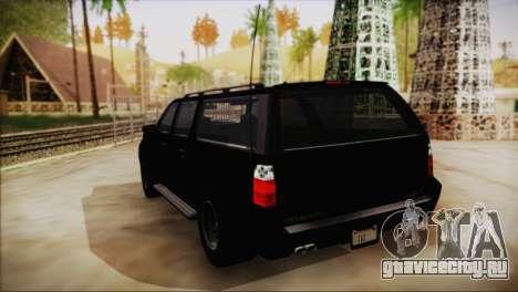 GTA 5 FIB Granger для GTA San Andreas вид слева