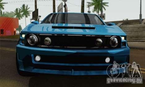 GTA 5 Dominator для GTA San Andreas вид сзади слева