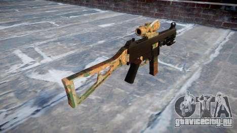 Пистолет-пулемёт UMP45 Jungle для GTA 4 второй скриншот