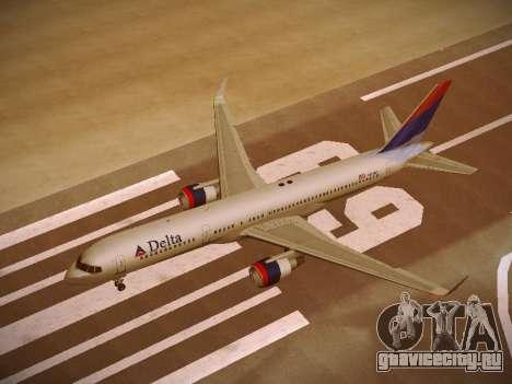 Boeing 757-232 Delta Airlines для GTA San Andreas салон