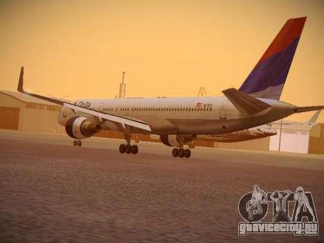 Boeing 757-232 Delta Airlines для GTA San Andreas вид сзади слева