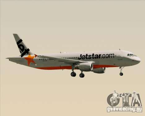 Airbus A320-200 Jetstar Airways для GTA San Andreas двигатель
