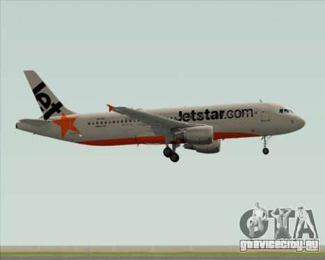 Airbus A320-200 Jetstar Airways для GTA San Andreas вид сзади слева