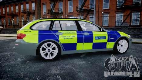 BMW 530d F11 Metropolitan Police [ELS] SEG для GTA 4 вид слева