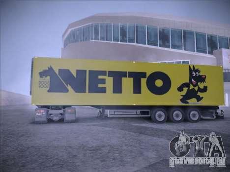 Trailer NETTO для GTA San Andreas вид сзади