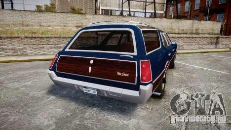 Oldsmobile Vista Cruiser 1972 Rims2 Tree4 для GTA 4 вид сзади слева