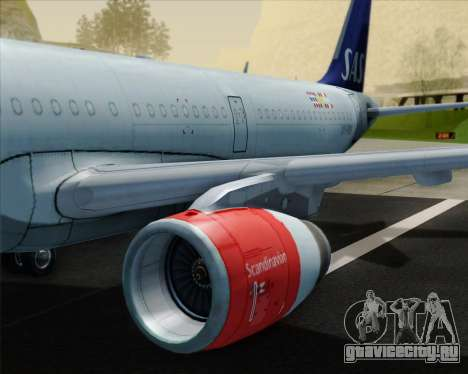 Airbus A321-200 Scandinavian Airlines System для GTA San Andreas двигатель