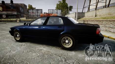 GTA V Vapid Cruiser Police Unmarked [ELS] Slick для GTA 4 вид слева