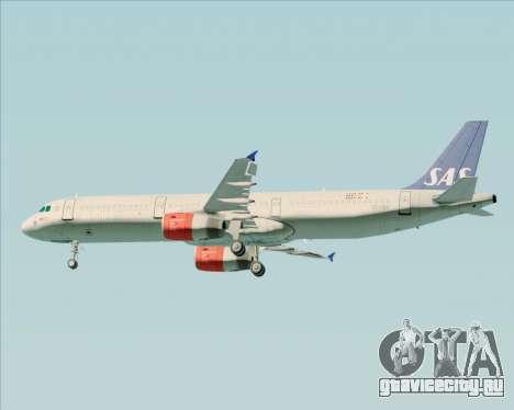 Airbus A321-200 Scandinavian Airlines System для GTA San Andreas колёса