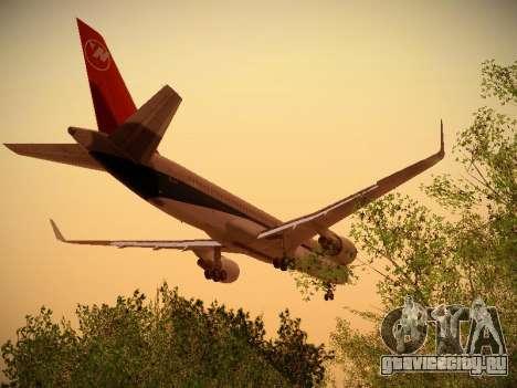 Boeing 757-251 Northwest Airlines для GTA San Andreas салон
