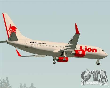 Boeing 737-800 Lion Air для GTA San Andreas вид сзади