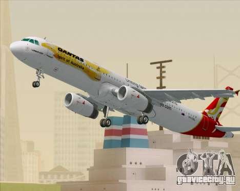 Airbus A321-200 Qantas (Wallabies Livery) для GTA San Andreas