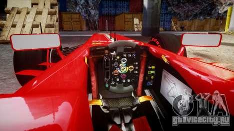 Ferrari F138 v2.0 [RIV] Massa TSSD для GTA 4 вид изнутри