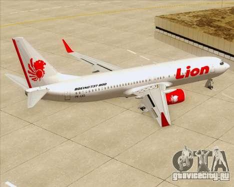 Boeing 737-800 Lion Air для GTA San Andreas салон