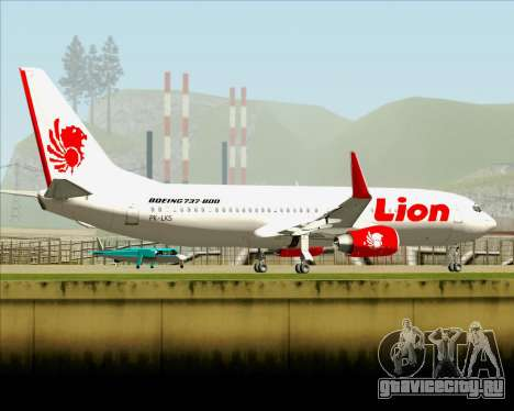 Boeing 737-800 Lion Air для GTA San Andreas вид сверху