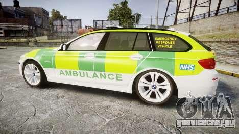 BMW 530d F11 Ambulance [ELS] для GTA 4 вид слева