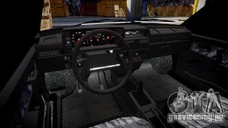 ВАЗ-2109 сток для GTA 4 вид изнутри