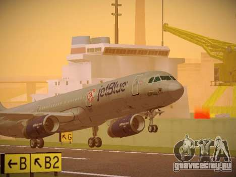 Airbus A321-232 jetBlue Boston Red Sox для GTA San Andreas вид слева