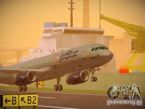 Airbus A321-232 jetBlue Boston Red Sox для GTA San Andreas вид слева