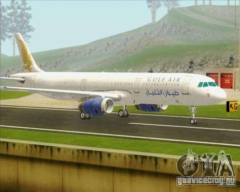 Airbus A321-200 Gulf Air для GTA San Andreas вид сзади слева