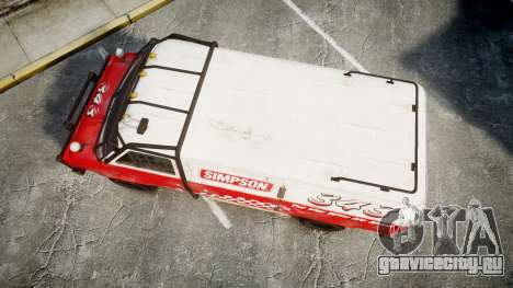 Kessler Stowaway Simpson для GTA 4 вид справа
