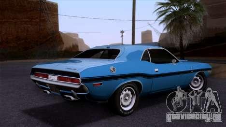 Dodge Challenger 426 Hemi (JS23) 1970 (HQLM) для GTA San Andreas вид слева