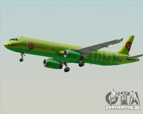 Airbus A321-200 S7 - Siberia Airlines для GTA San Andreas вид снизу