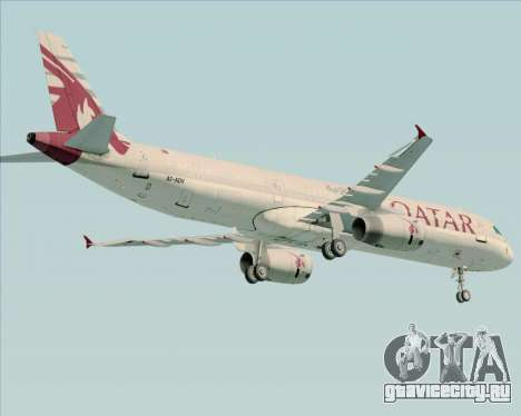 Airbus A321-200 Qatar Airways для GTA San Andreas вид сзади