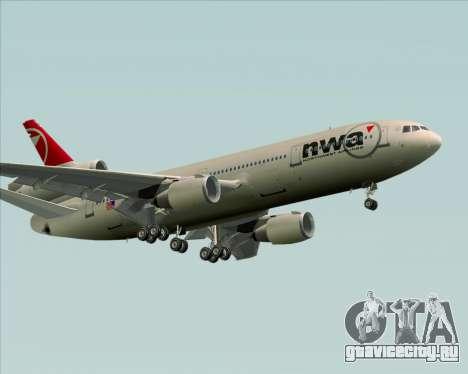 McDonnell Douglas DC-10-30 Northwest Airlines для GTA San Andreas вид сверху