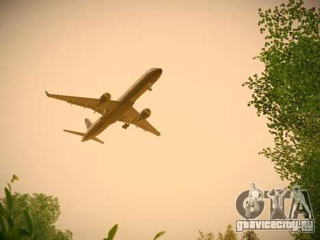 Boeing 757-224 United Airlines для GTA San Andreas вид снизу
