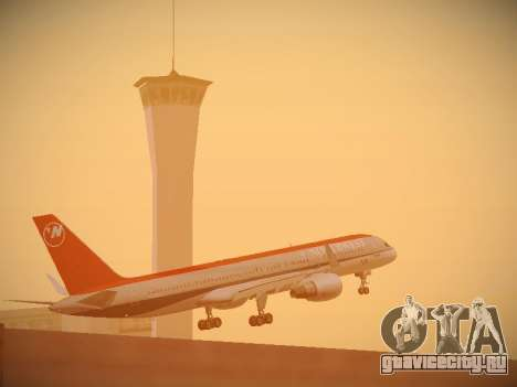 Boeing 757-251 Northwest Airlines для GTA San Andreas вид сверху