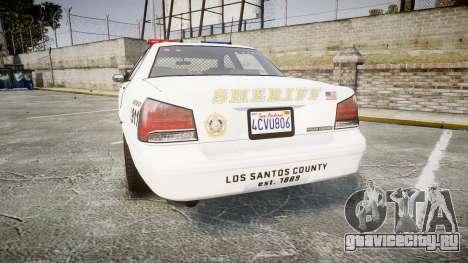 GTA V Vapid Cruiser LSS White [ELS] для GTA 4 вид сзади слева