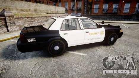 Ford Crown Victoria LASD [ELS] Marked для GTA 4 вид слева