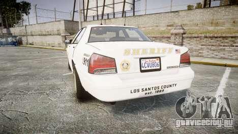 GTA V Vapid Cruiser LSS White [ELS] Slicktop для GTA 4 вид сзади слева
