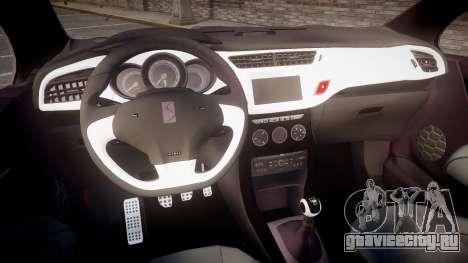 Citroen DS3 Convertible для GTA 4 вид сзади