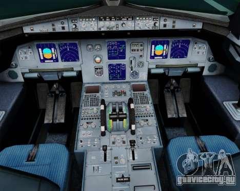 Airbus A321-200 Scandinavian Airlines System для GTA San Andreas салон