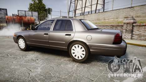 Ford Crown Victoria Unmarked Police [ELS] для GTA 4 вид слева