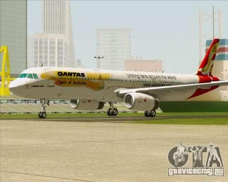 Airbus A321-200 Qantas (Wallabies Livery) для GTA San Andreas вид сзади слева