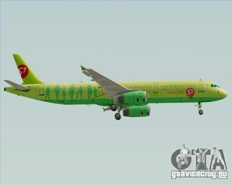 Airbus A321-200 S7 - Siberia Airlines для GTA San Andreas вид сзади слева